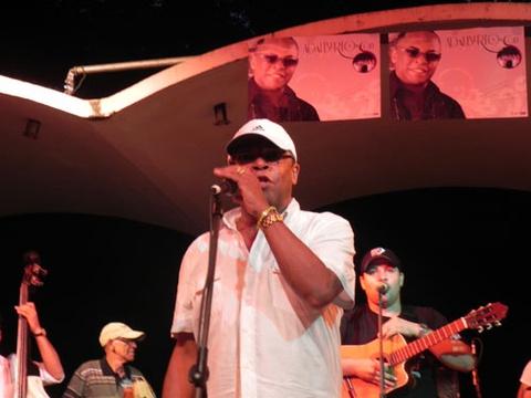 Concert at Salon Rosado of Tropical during presentation of CD Mi linda habanera