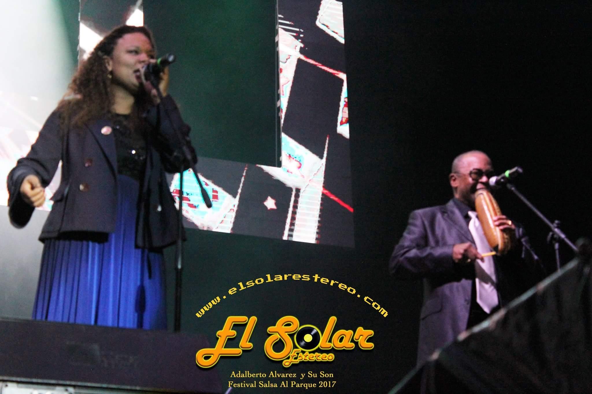 Vocalist Jennifer Alvarez during Salsa al Parque Festival presentation